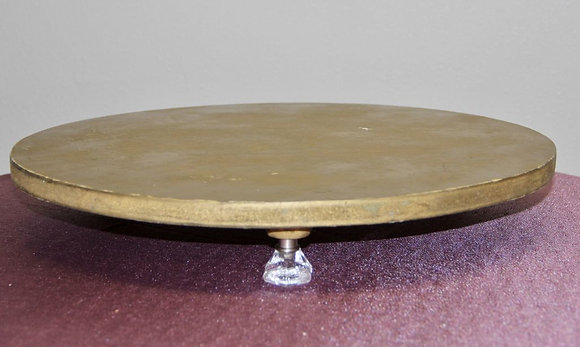 """19"""" Gold Wooden Cake Stand"""
