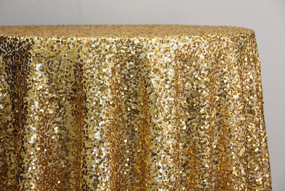 "90x156"" Gold Sequin"