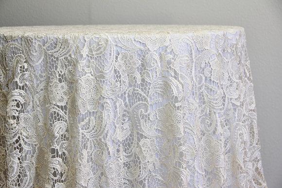"""120"""" English Lace - Ivory"""