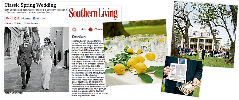 emily sullivan events was featured in southern living magazine.