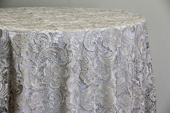 "120"" English Lace - Silver"