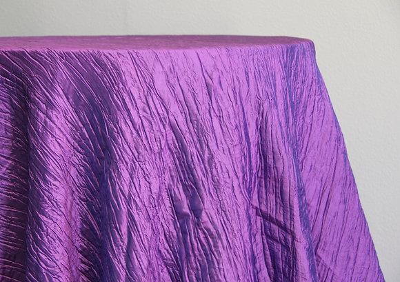 """120"""" Purple Crinkle Taffeta"""