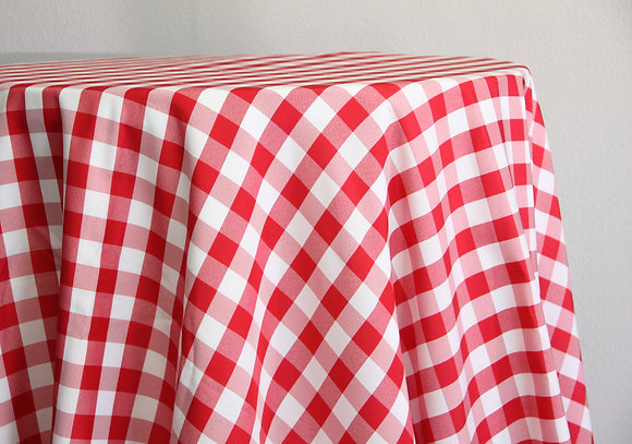 """90x156"""" Red and White Checker"""