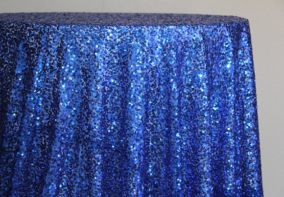 "132"" Royal Blue Sequin"