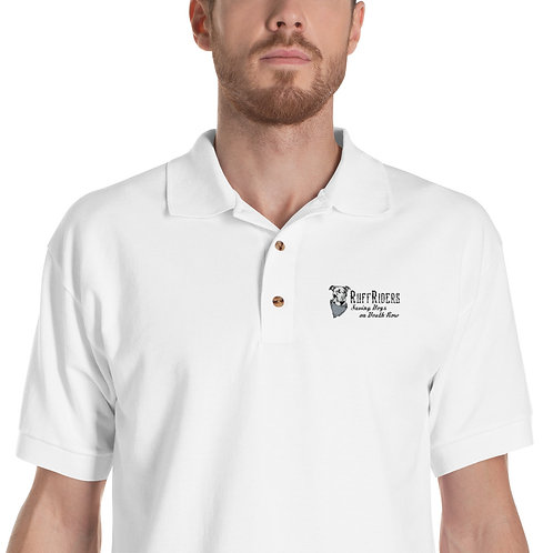 RuffRiders Embroidered Polo Shirt (White)