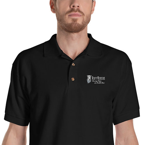 RuffRiders Embroidered Polo Shirt (Black)