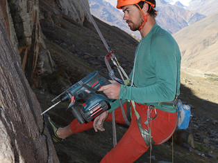 Setting new climbing routes in Zanskar for the School