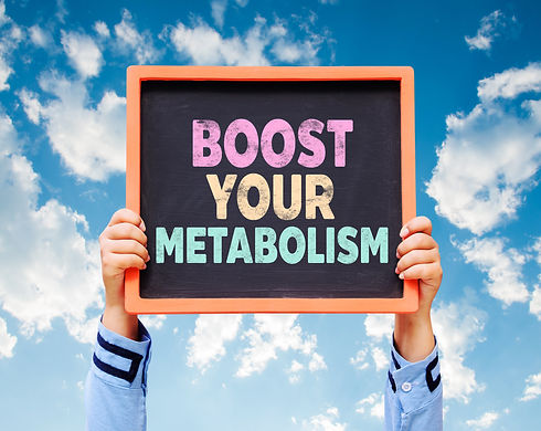 Hands holding Boost Your Metabolism writ