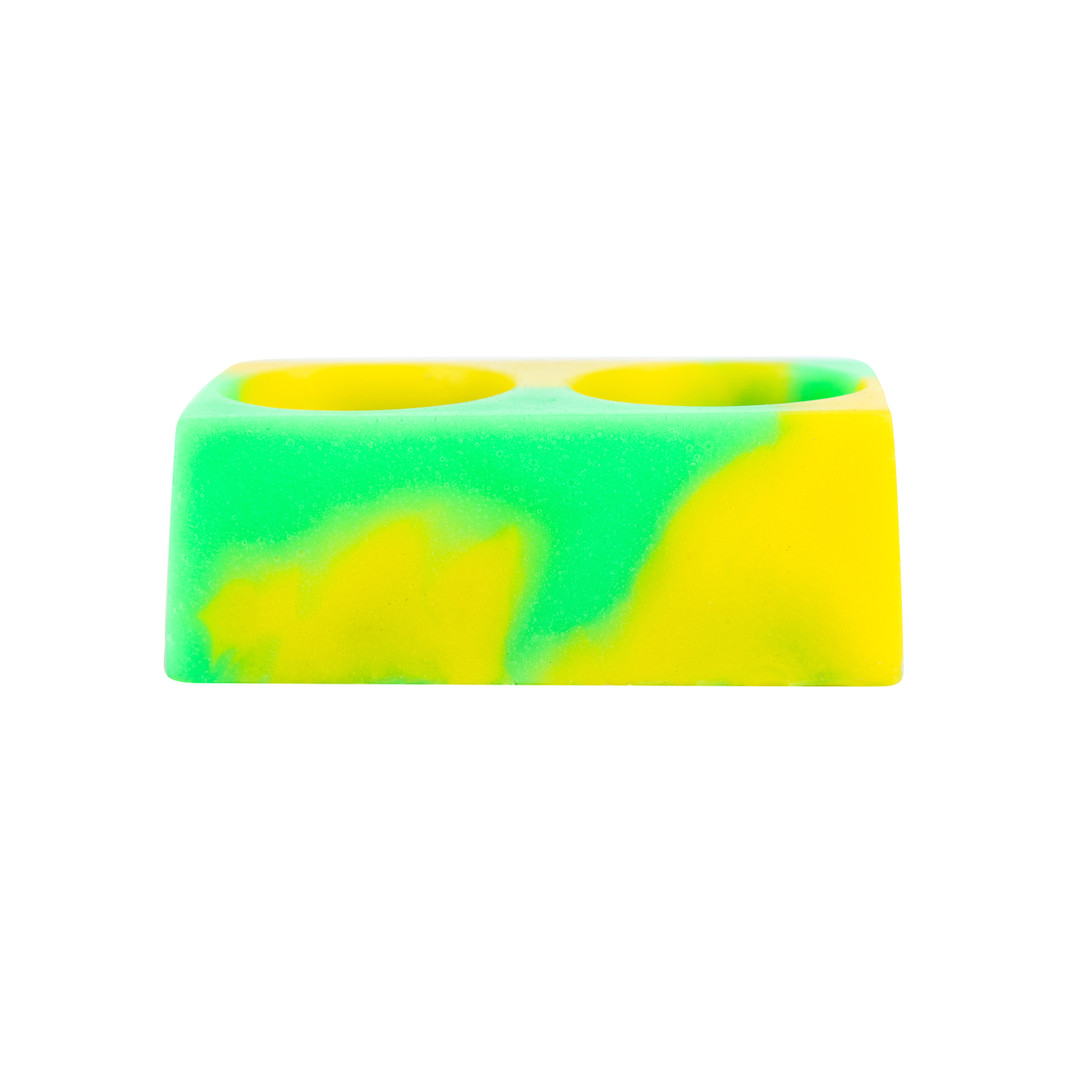 Green and Yellow Colorsplash Silicone CC Cup Holder
