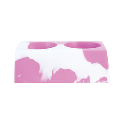 White and Pink Colorsplash Silicone CC Cup Holder