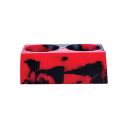 Black and Red Colorsplash Silicone CC Cup Holder
