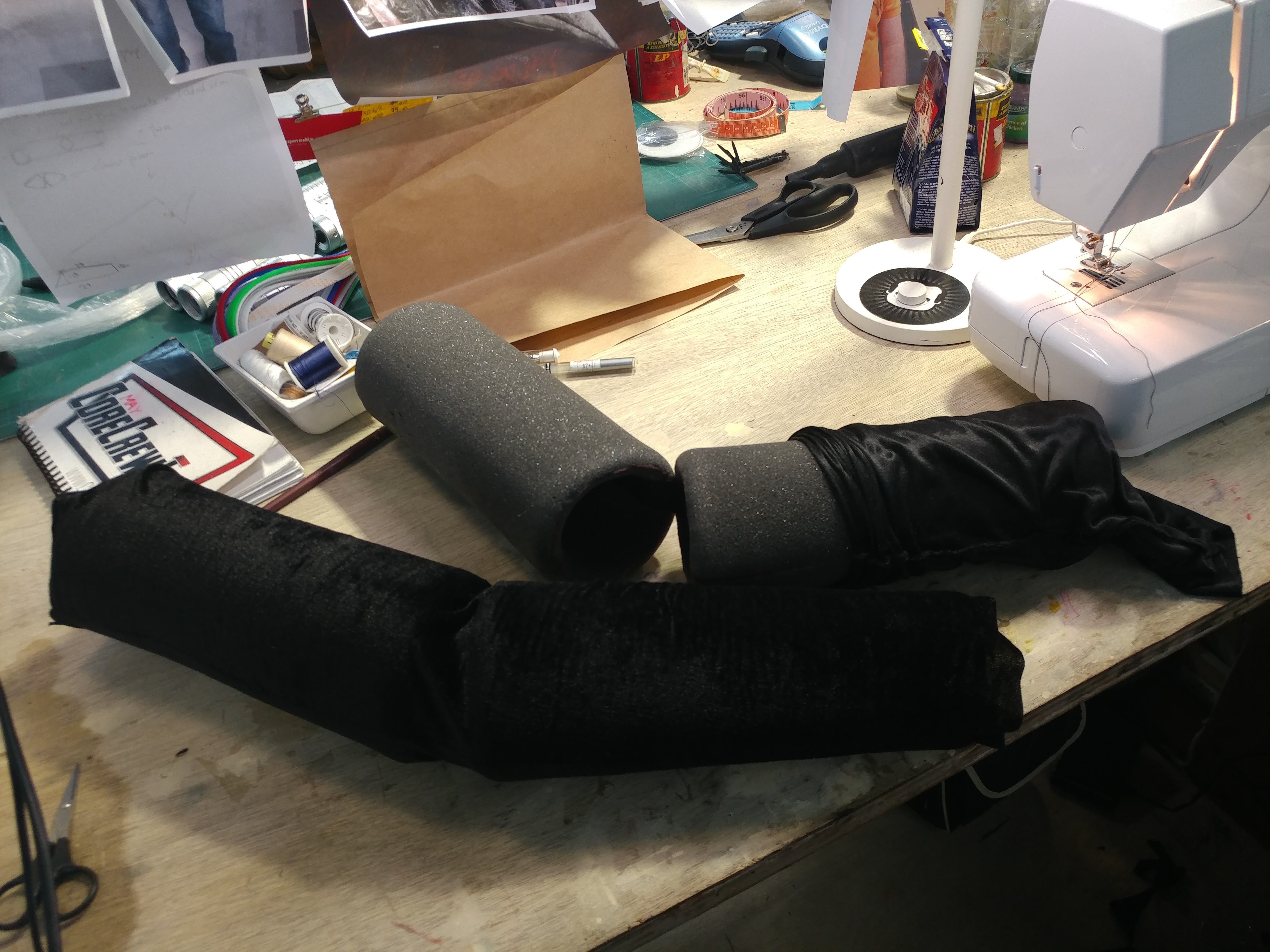 Foam Legs Being Dressed