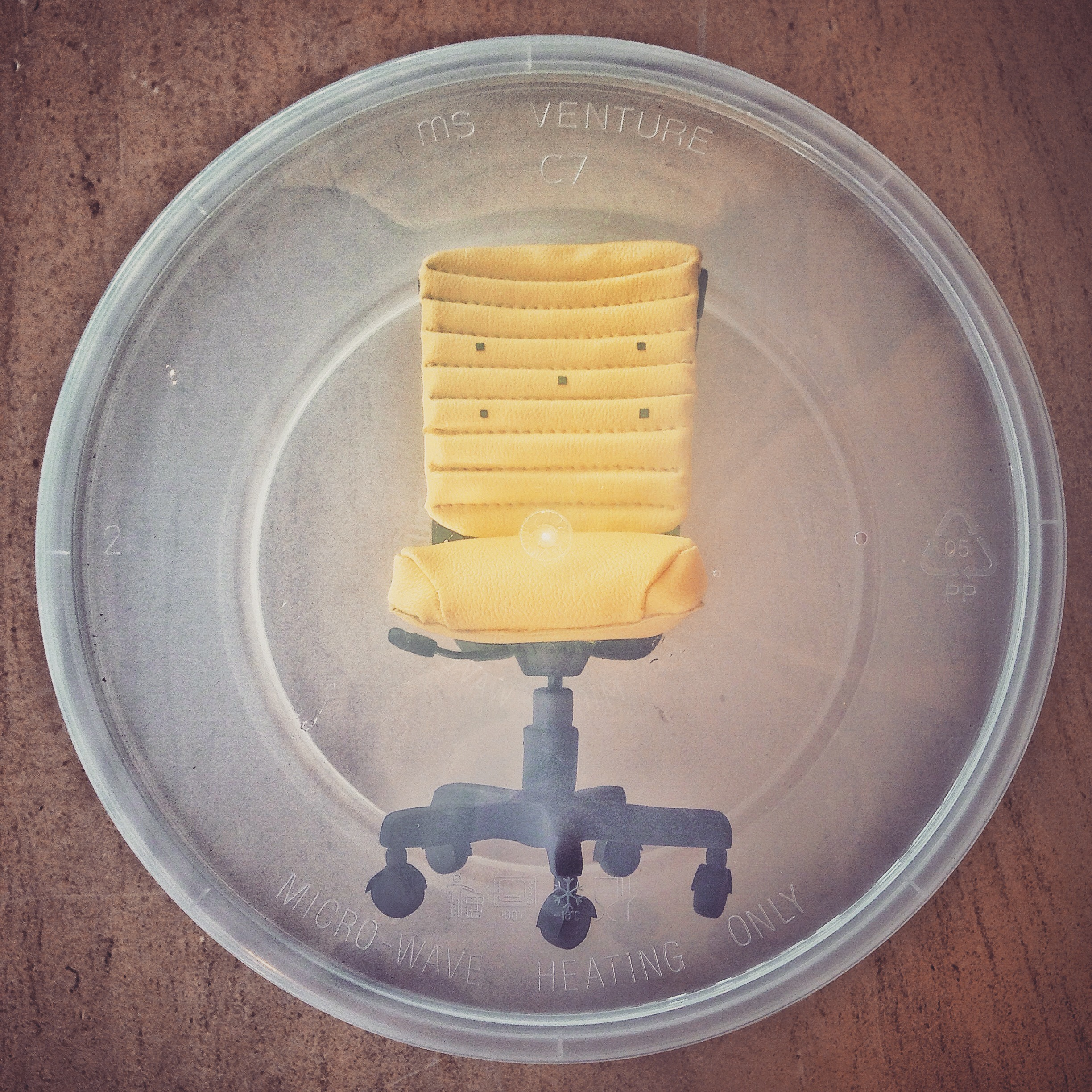 A Chair in a Disposable Box
