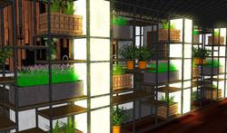 Shelves and LED Columns