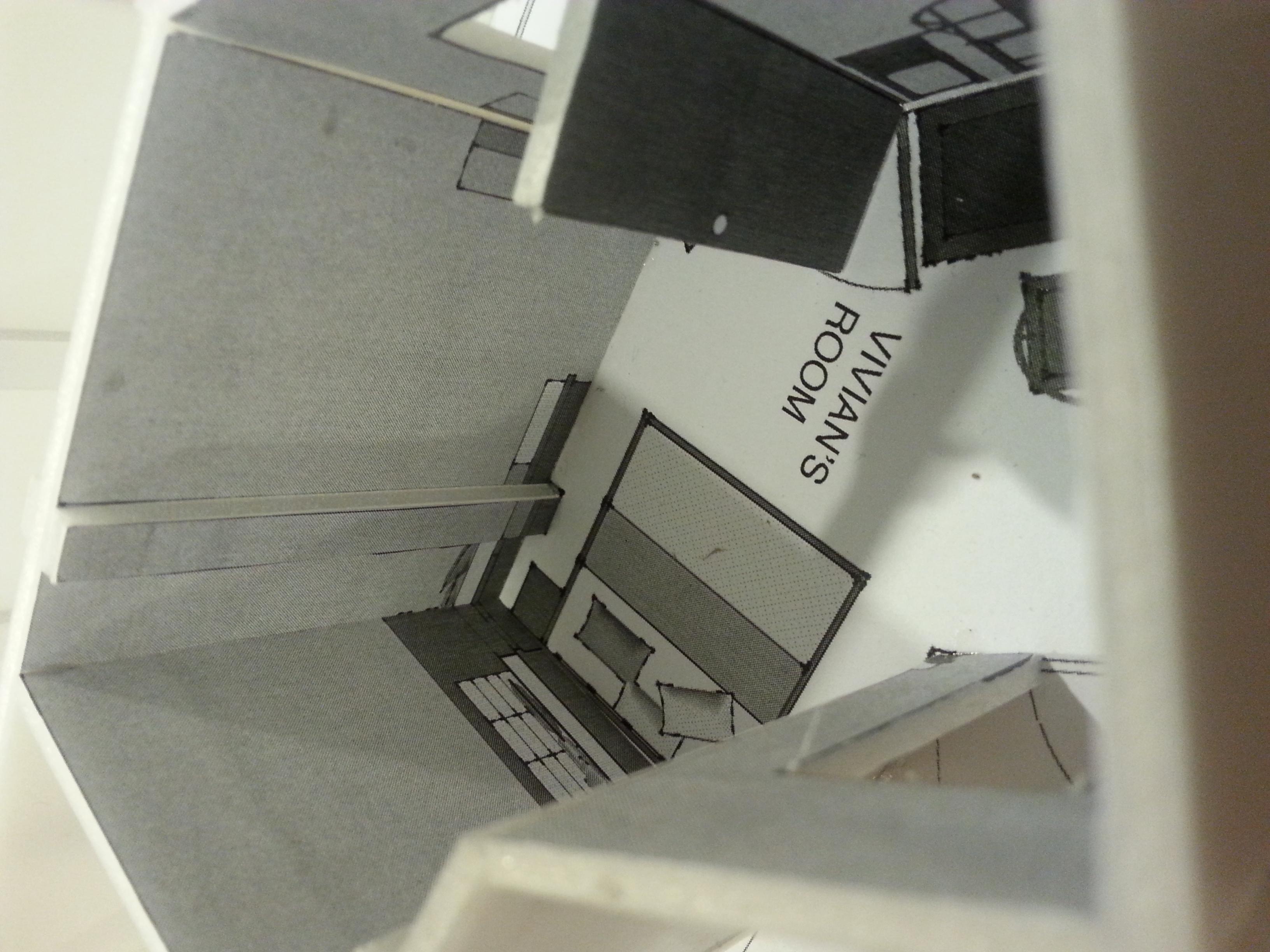 White Model of Vivian's Room