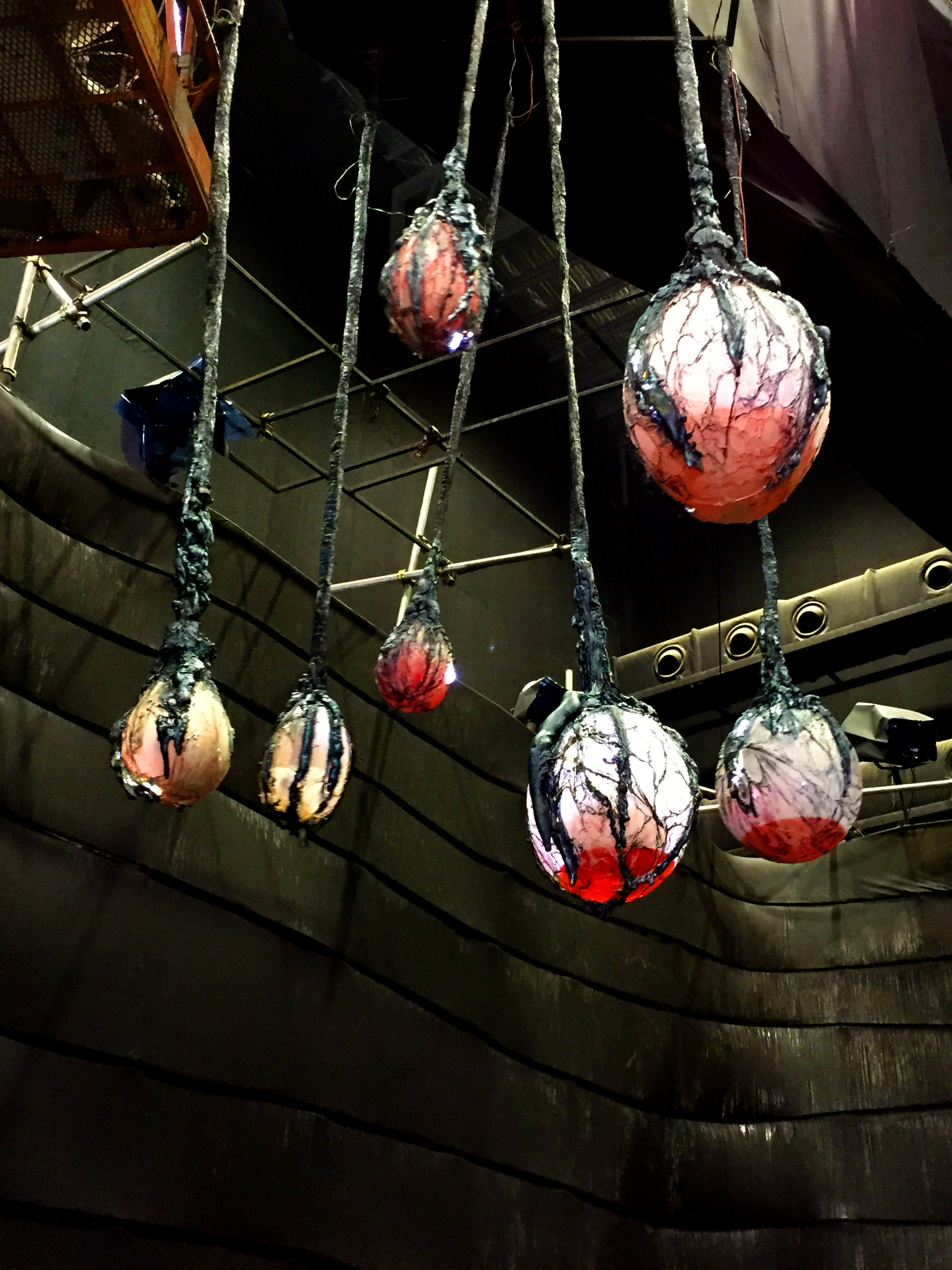 Alien Eggs Hanging on Set