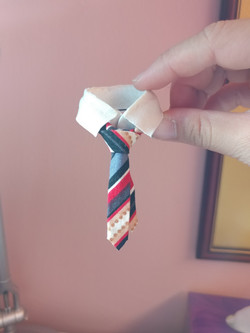 Stripey Tie with Collar