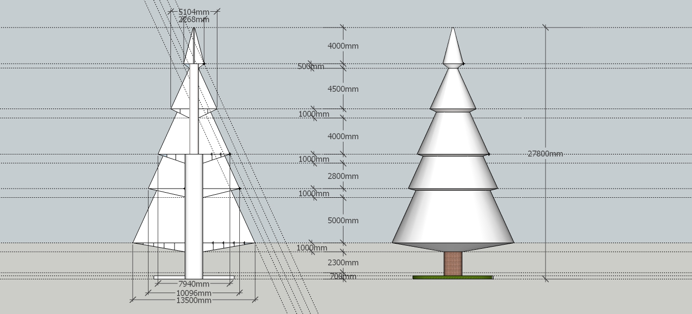 SketchUp Model of Tree
