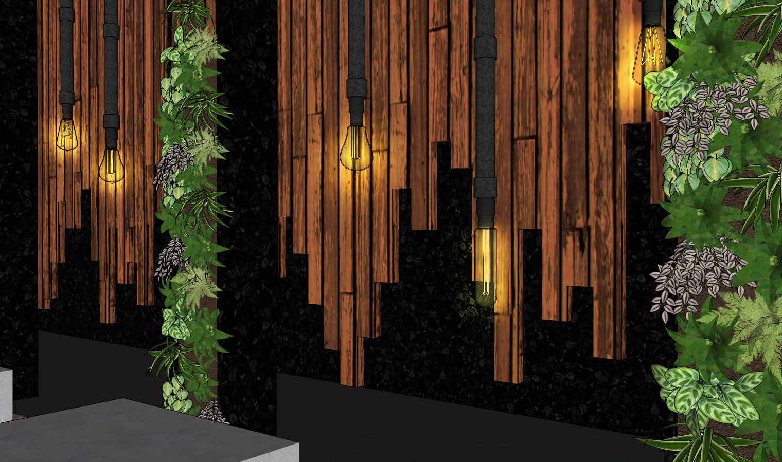 Wall Panel and Planters