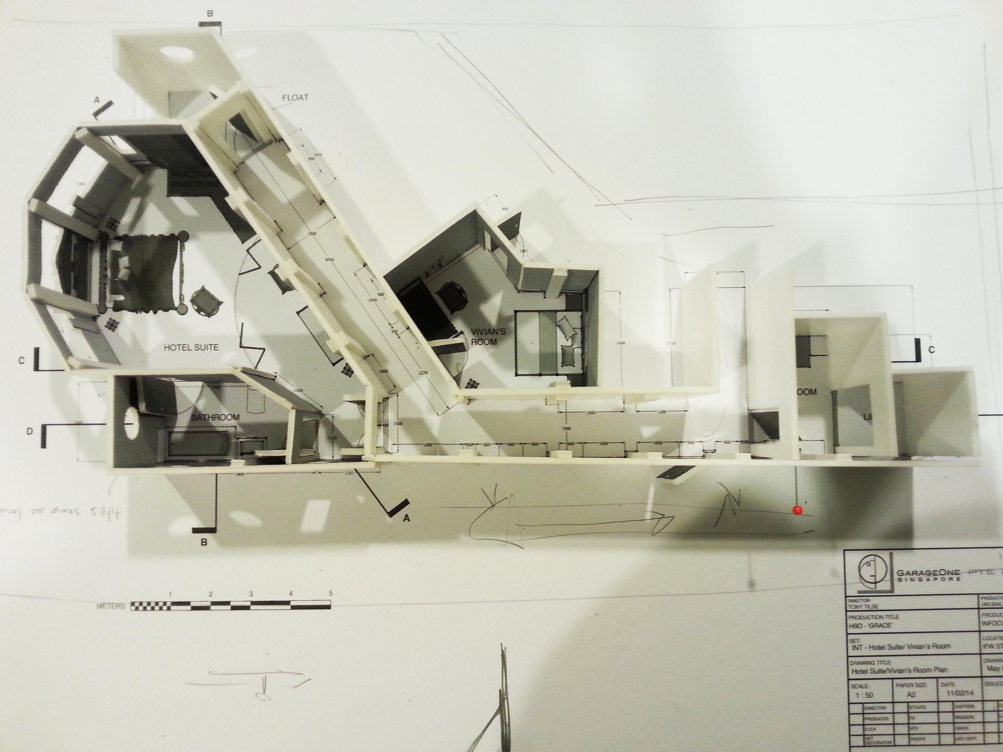 White Model of Hotel