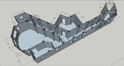 Sketchup Model of Hotel