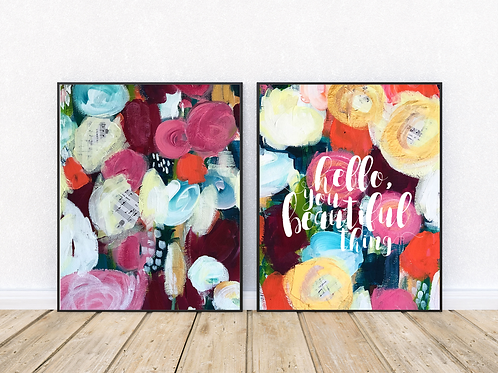 Abstract Flowers Print Pack