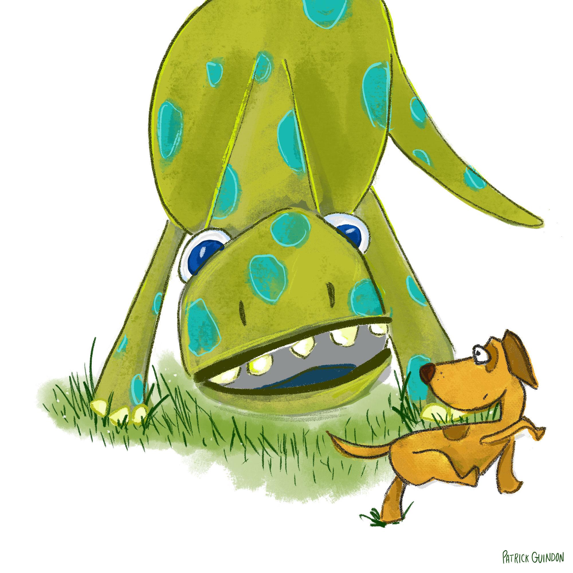 dino+dog