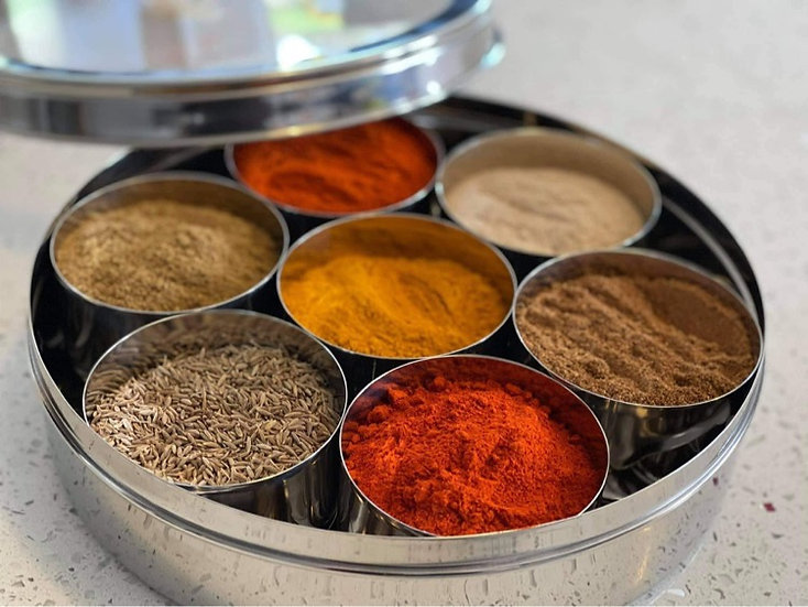 Masala Dabba (including Spices)