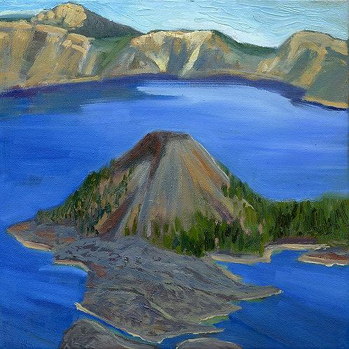 "Wizard's Island    10x10"" oil on canvas"