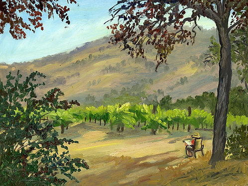 """Evening in the Vineyard No. 5""    11x14""    oil on board"