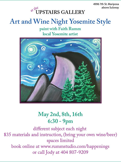 Art & Wine Night ADMIT ONE (May 16th)