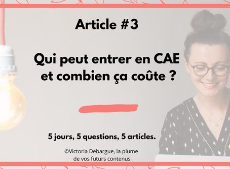 #3 : Qui peut rejoindre une CAE et combien ça coûte ?