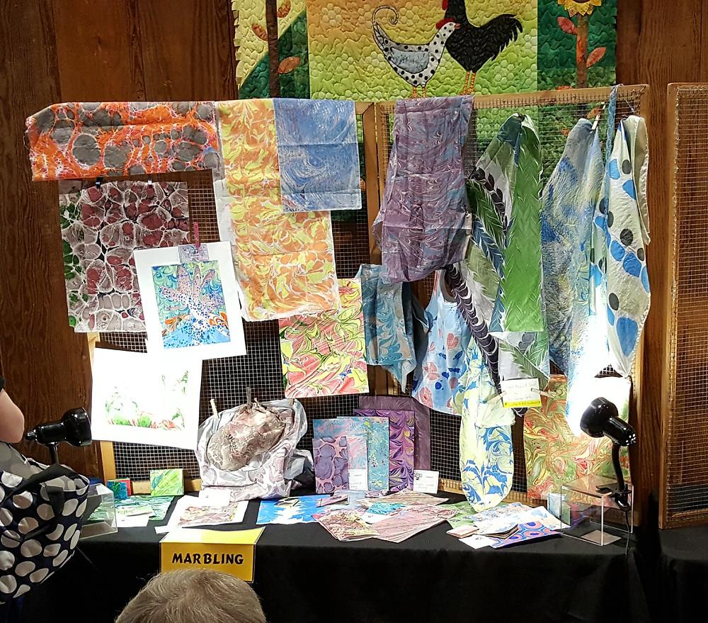 marbling art display