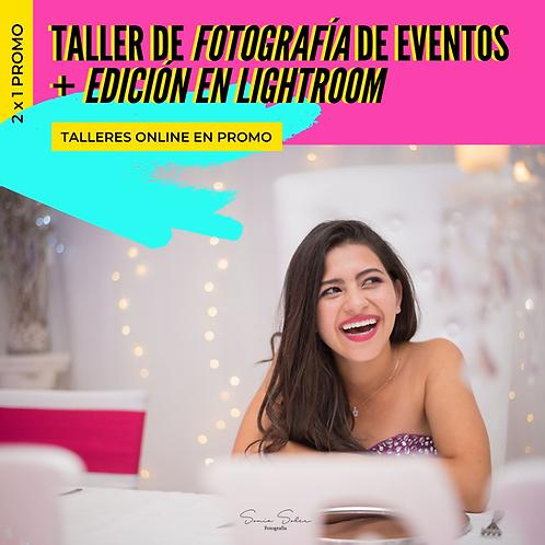 Taller de Fotografía de Eventos + Lightroom Online