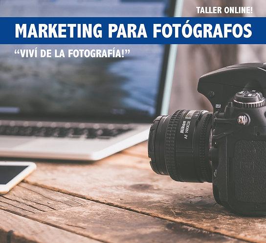 Taller online de Marketing para Fotógrafos.