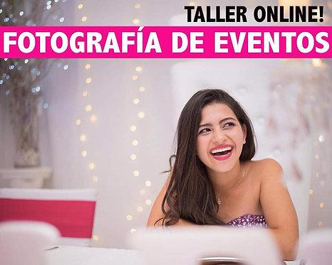 Taller de Fotografía en Eventos ONLINE