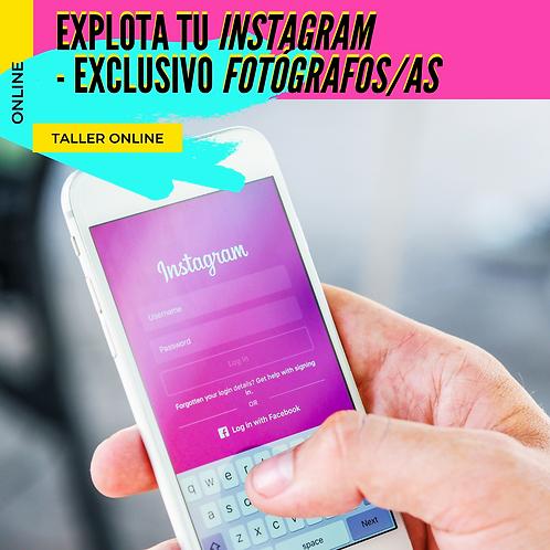 Explota tu Instagram - Exclusivo Fotograf@s