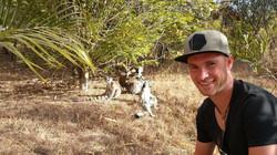 Stefan mit Lemurenaffen