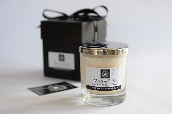 Rhubarb and Ginger Gin Luxury Jar Gift Boxed