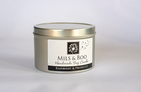 Raspberry and Prosecco Large Tin 200g