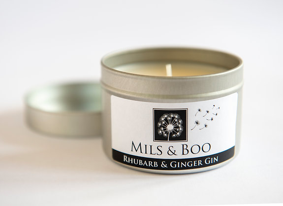 Rhubarb and Ginger Gin Small Tin 100g