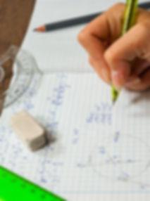schoolgirl solves the problem of mathema