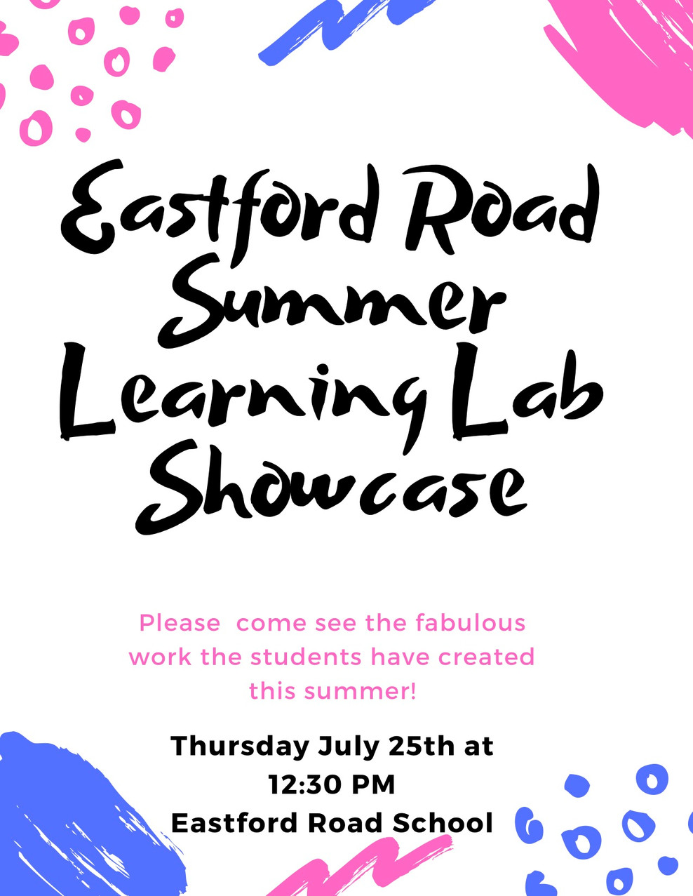 ENG ERS Summer Learning Lab Showcase Fly