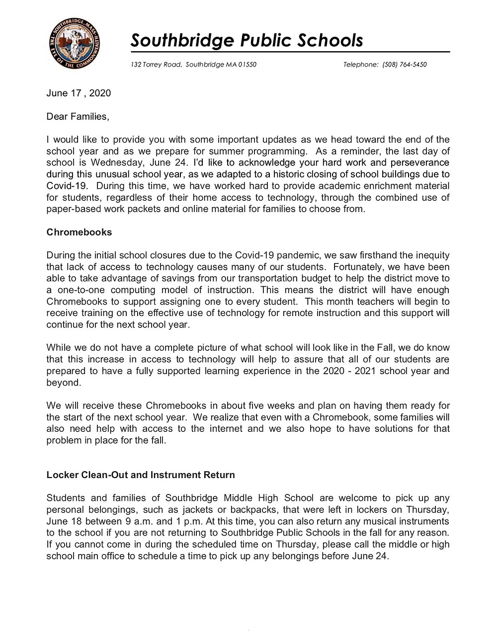 Image of the letter which is also in the body of this email. English version. Click for a PDF of the letter
