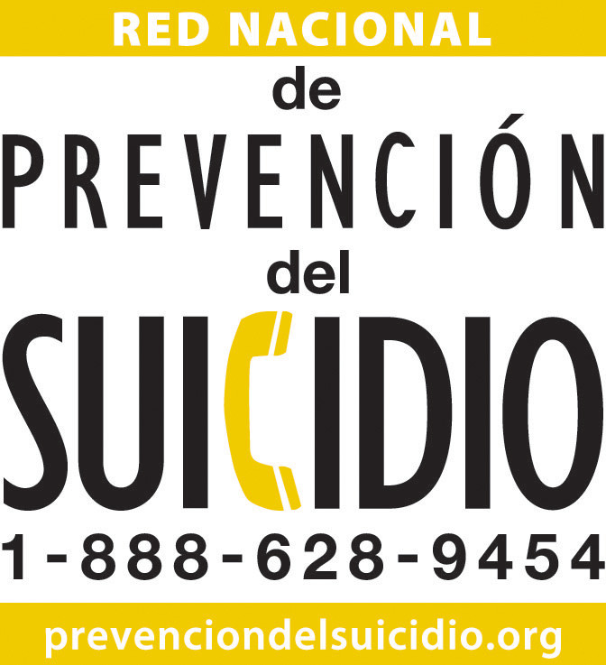 Logo of National Suicide Line in Spanish