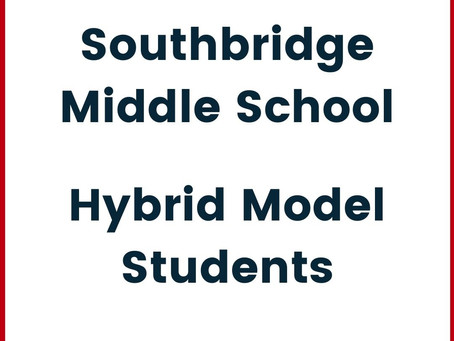 A letter from Middle School Principal House for Hybrid Learners (In English y en Español)