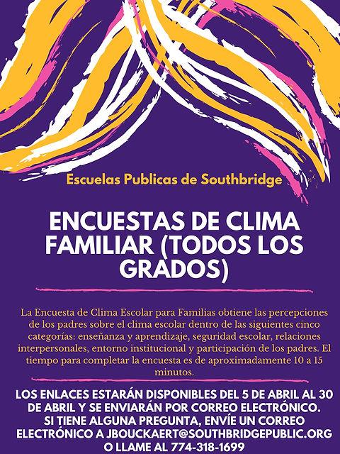 ESP April 2021 Climate Survey Poster for