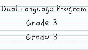 Grade 3 Dual Language material click here