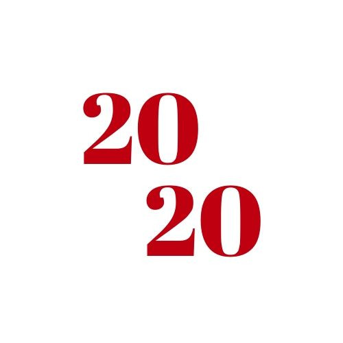 "Simple logo that says ""2020"""