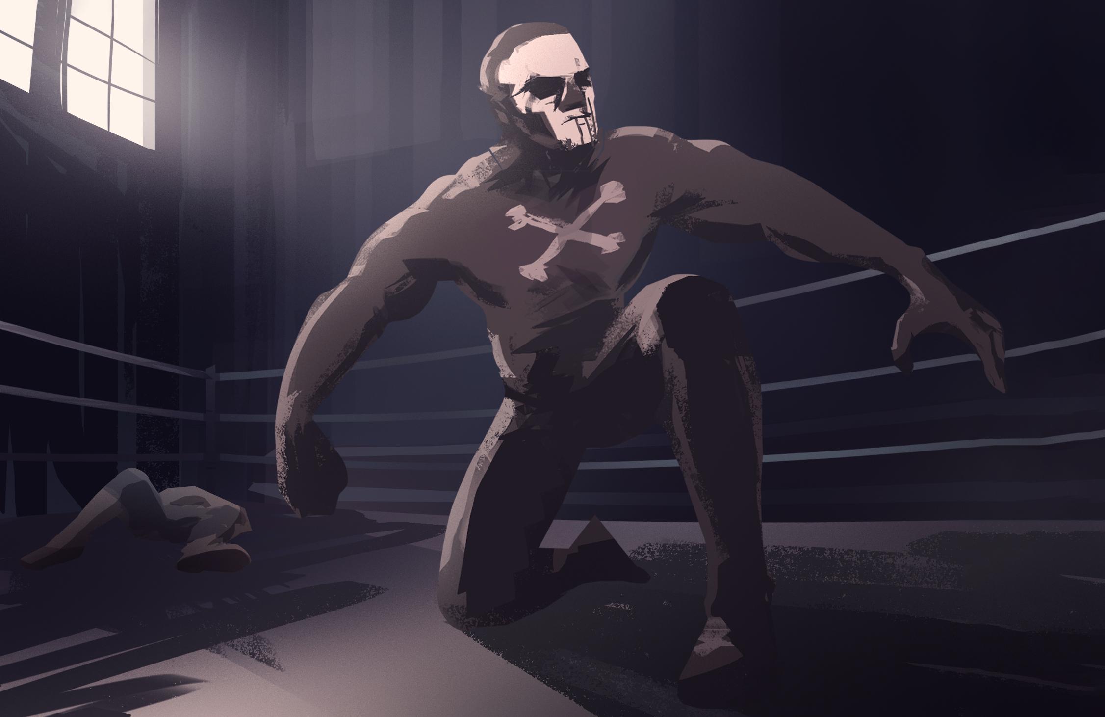 Skeleton Westler